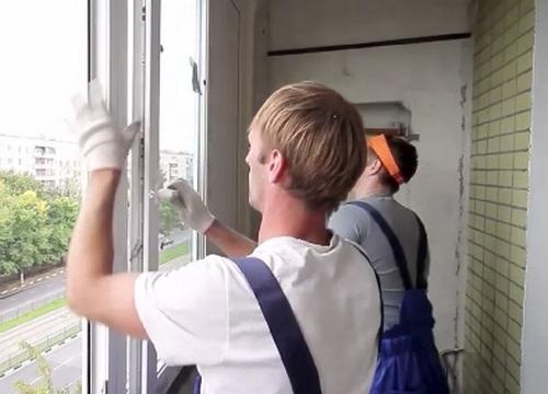 монтаж остекления балконов