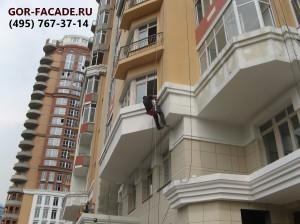 покраска фасада в Москве