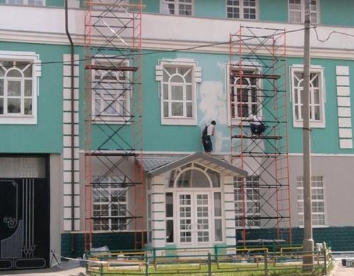 стоимость окраски фасада