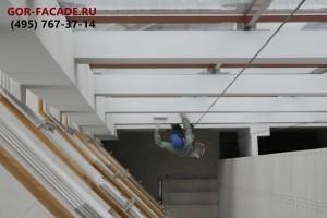 покраска бетонных балок