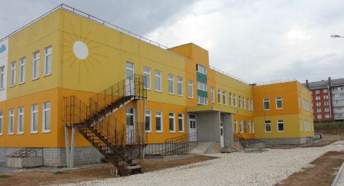 Покраска фасада детского сада