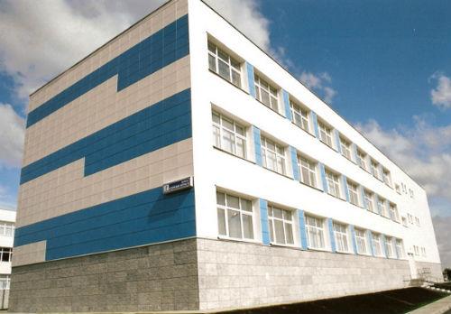 покраска фасада школы