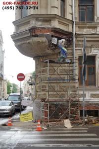 Реставрация и ремонт лепнины - начало работ